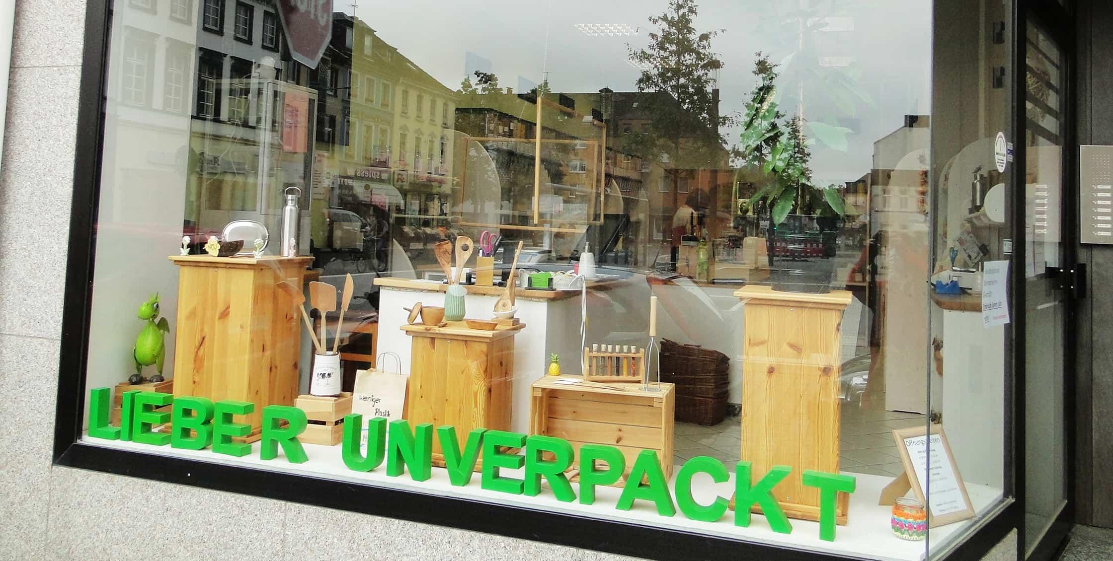startkrefeld - Erfolgsgeschichte aus Krefeld: Außenansicht des Unverpackt-Ladens